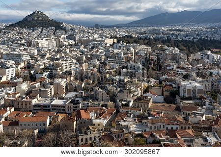 Panoramic View Of City Of Athens From Acropolis, Attica, Greece