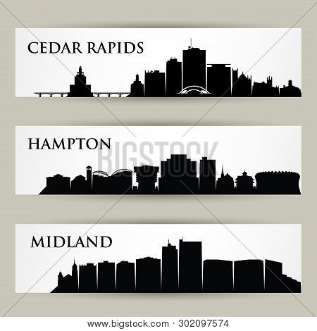 United States Of America Cities Skylines - Cedar Rapids, Iowa, Hampton, Virginia, Midland, Texas - I