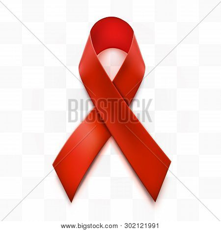 Hiv Awareness Red Ribbon. World Aids Day Concept.