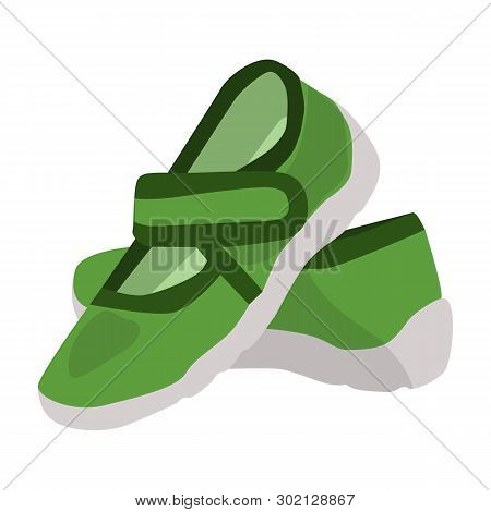 b87b5b36f Baby Booties Vector Icon On A White Background. Sport Shoes Illustration  Isolated On White.