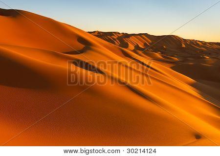 Magic Light At Desert Sunset