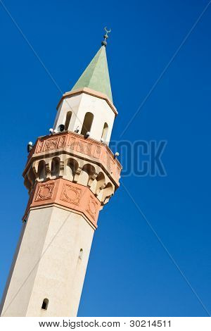 Minaret of a mosque in Tripoli Libya poster