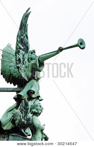 Angel With Trumpet At The Berliner Dom (cathedral), Berlin, Germany