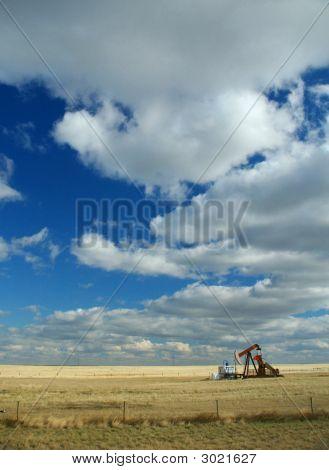 Oil Well,Prairies,