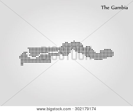 Map Of Gambia. Vector Illustration. World Map
