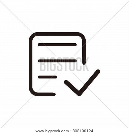Check Form Icon Isolated On White Background. Check Form Icon In Trendy Design Style. Check Form Vec