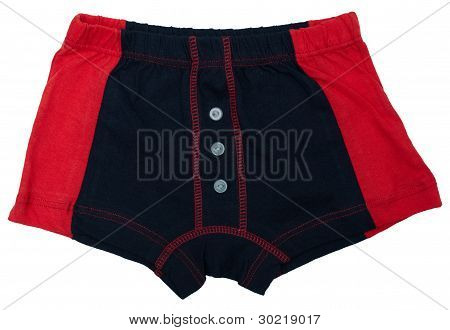 Children's Underwear - Black And Red