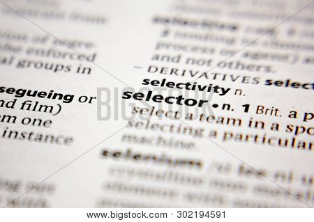Word Or Phrase Selector In A Dictionary.