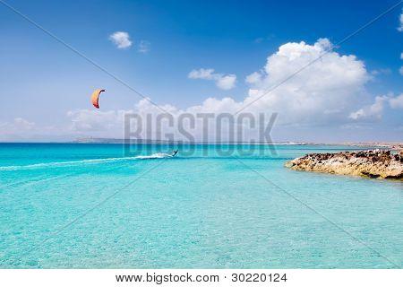 Illetas formentera illetes beach turquoise paradise in tropical mediterranean Balearic islands