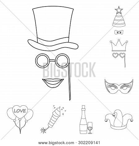 Vector Illustration Of Party And Birthday Icon. Set Of Party And Celebration Stock Vector Illustrati