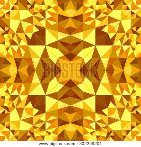 Orange Seamless Kaleidoscope Pattern Background Design - Abstract Vector Wallpaper Illustration