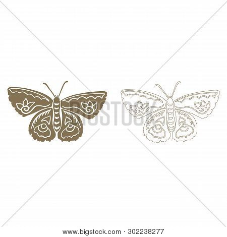 Cute moth silhouette cartoon vector illustration motif set. Hand drawn nocturnal insect elements clipart for creepy crawly blog. poster