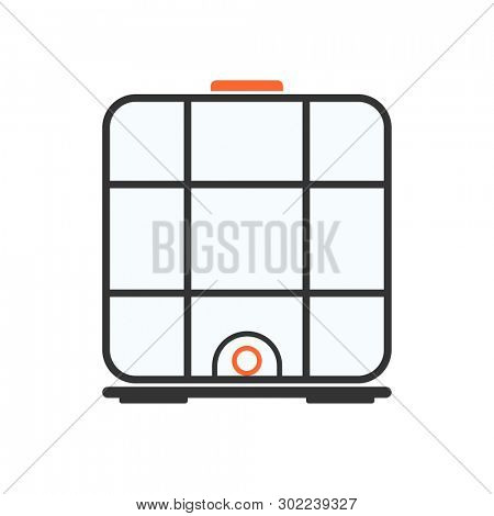 ibc container icon. Clipart image isolated on white background poster