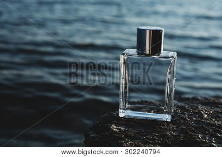 Mens Perfume Against The A Blue Sea