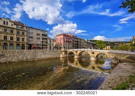 Latin Bridge in Sarajevo - Bosnia and Herzegovina - architecture travel background
