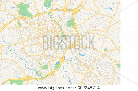 County Map Of Georgia With Roads.Empty Vector Map Vector Photo Free Trial Bigstock