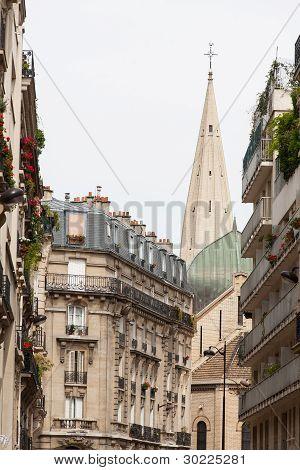 Classic Street View Of Paris Buildings