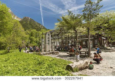 Kamikochi, Japan - June 06, 2017: National Park Of Kamikochi In Japan. It Is One Of The Most Famous