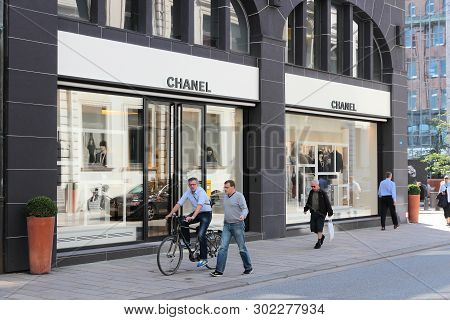 Hamburg, Germany - August 28, 2014: Chanel Fashion Shop In Hamburg. The Famous Brand Exists Since 19