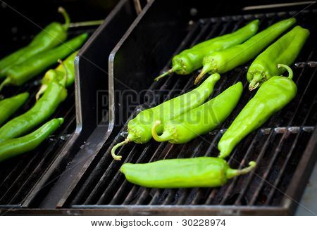Produce - Summer - Roasting Hatch Green Chilie