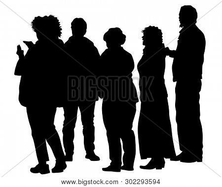 Big crowds people on white background