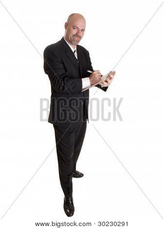 Businessman Clipboard Notes