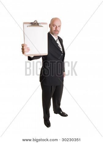 Businessman - Presenting Clipboard