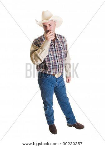 Cowboy mit Zigarette