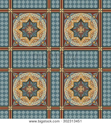 Andalusian And Mediterranean Style Pattern, Usually Used In Tiles In Spain, Portugal And Other Medit