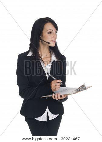 Businesswoman - Phone Call Clipboard