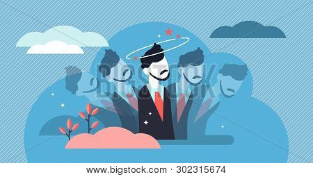 Dizziness Vector Illustration. Flat Tiny Dizzy Head Feeling Person Concept. Confusion Motion, Abstra
