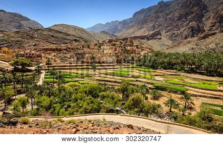 Village of Bilad Sayt in Al Hajar Mountains in the Sultanate of Oman