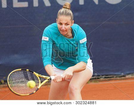 Nuremberg, Germany - May 21, 2019:  Chech Player Krystina Pliskova  At The Euro 250.000 Wta Versiche