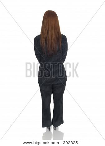 Businesswoman - Back Hands Clasped Front