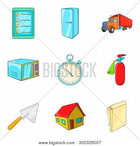 Accomplishment Icons Set. Cartoon Set Of 9 Accomplishment Icons For Web Isolated On White Background