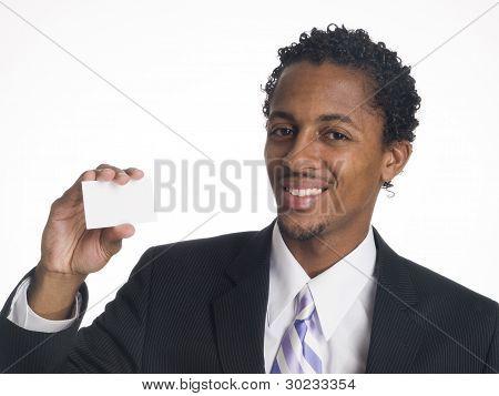 Businessman - Happy Blank Card