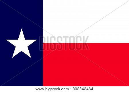 Texas State Flag. Vector Illustration. United States