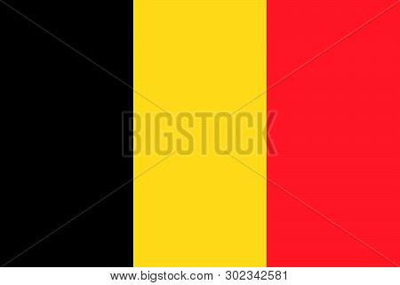 Belgium Vector Flag. Brussels. European Union. Benelux