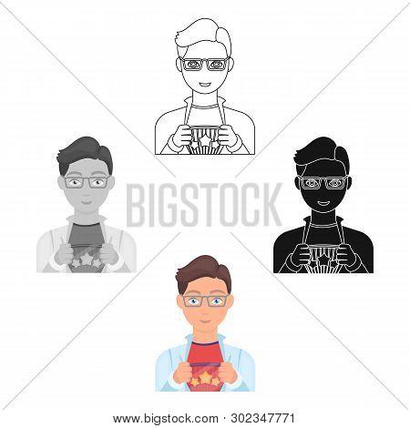 Superman Single Icon In Cartoon, Black Style. Superman Vector Symbol Stock Illustration Web.