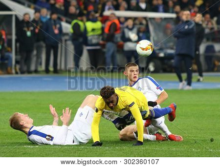 Kyiv, Ukraine - March 14, 2019: Uefa Europa League Game Fc Dynamo Kyiv V Chelsea At Nsc Olimpiyskyi
