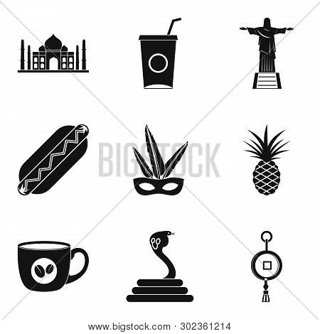 New Frontier Icons Set. Simple Set Of 9 New Frontier Icons For Web Isolated On White Background