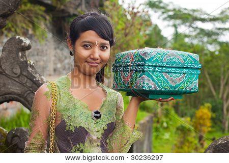 Traditionelle balinesische Pilgrim