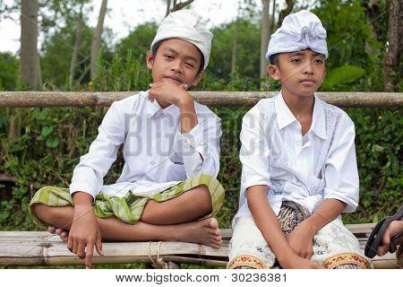 traditionelle balinesische Pilger