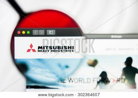 New York, New York State, Usa - 21 May 2019: Illustrative Editorial Of Japanese Company Mitsubishi H
