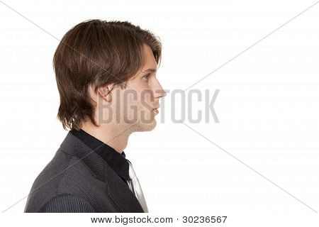 Businessman - Closeup Side View