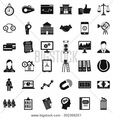 Partner Connection Icons Set. Simple Set Of 36 Partner Connection Icons For Web Isolated On White Ba