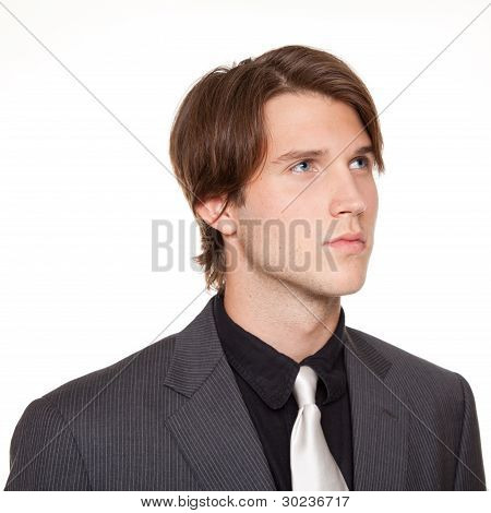 Businessman looking away