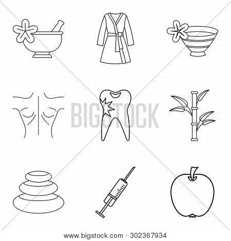 Backwash Icons Set. Outline Set Of 9 Backwash Icons For Web Isolated On White Background