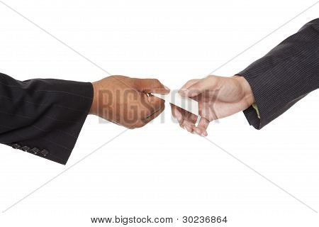 Businesspeople - Business Card Exchange