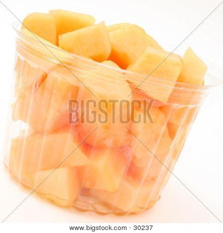 Bucket Of Fresh Fruit Over White